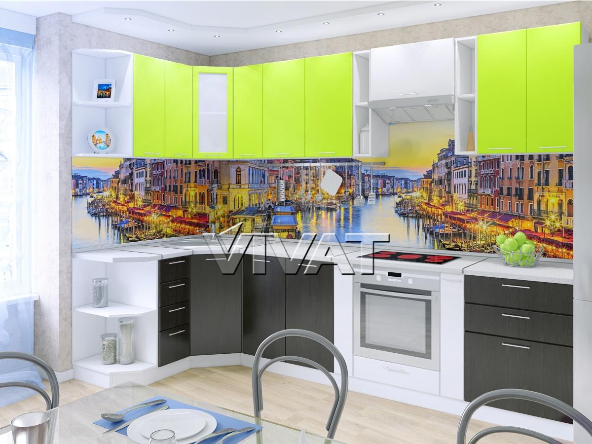 Интерьер кухни с мдф фартуком фото
